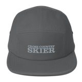 Cross Country Skier 5 Panel Camper Hat