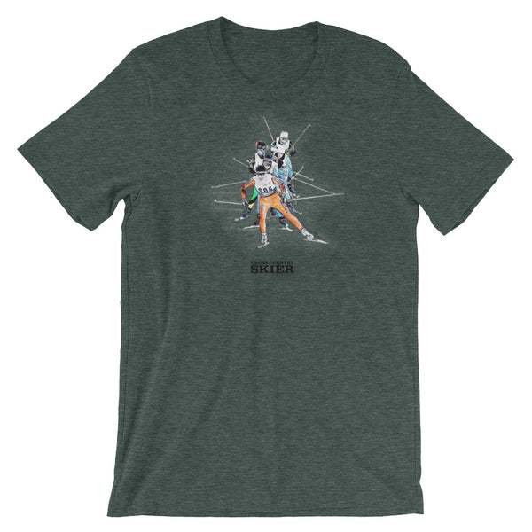 Cross Country Skier Watercolor T
