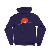 Cross Country Skier Sunset Zip Fleece Hoodie