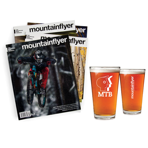Mountain Flyer Gift Subscription & Pint Glass Set