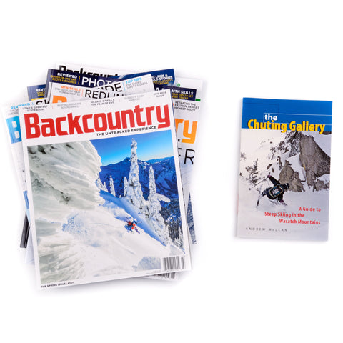 The Chuting Gallery Guide Book & Backcountry Magazine Subscription