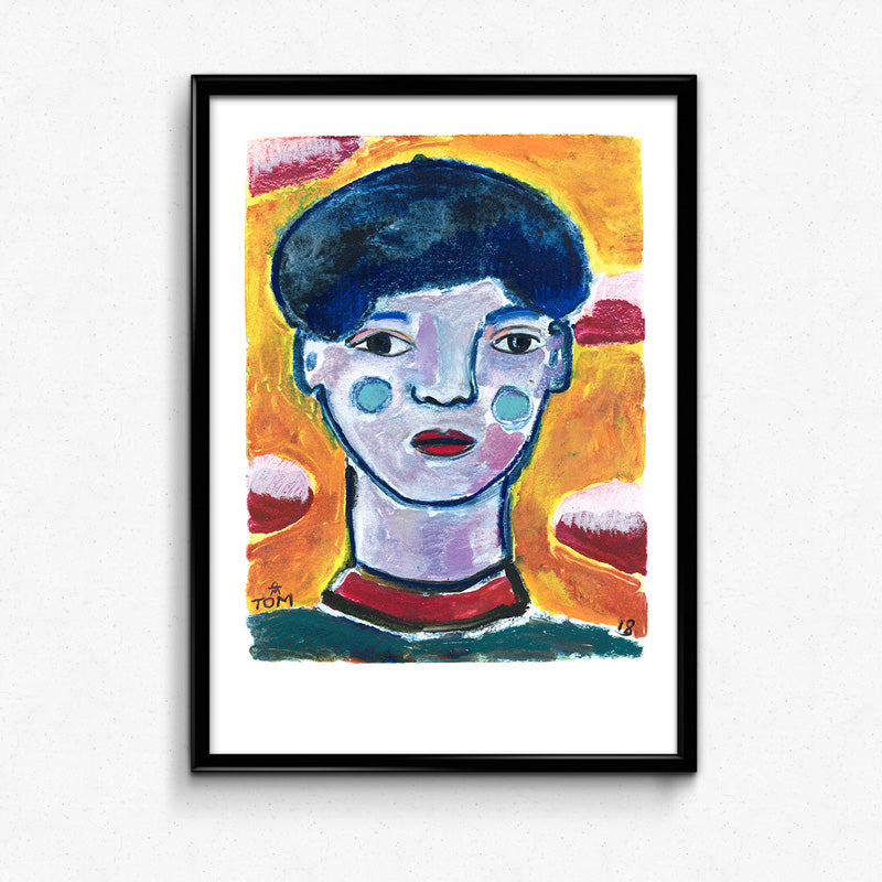Face 1 Print by Tom Campbell