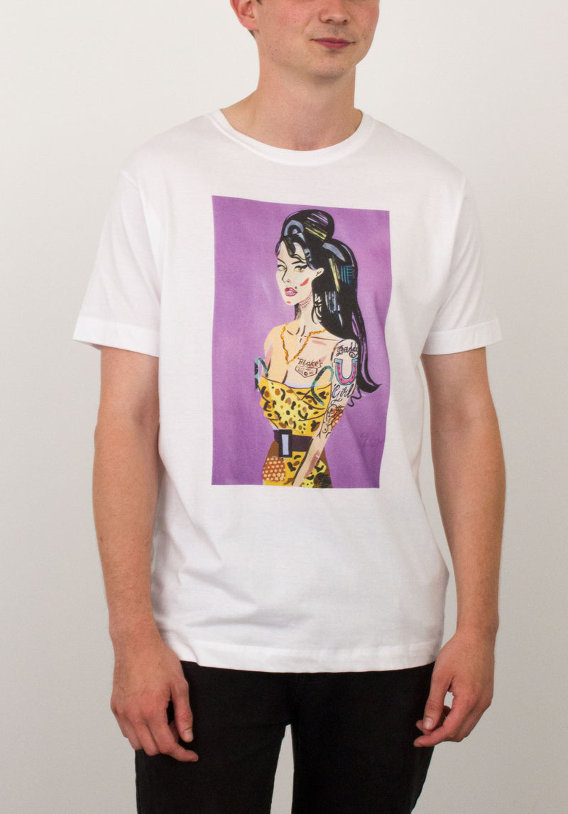 Amy Winehouse T-shirt by Francesca Esme