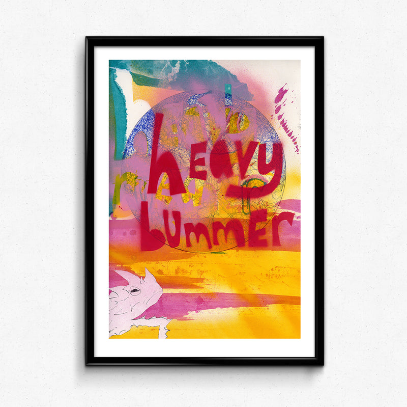 The Heavy Bummer Print by Anna Lockwood