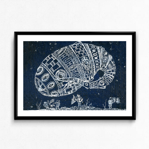 Tin Fish Print by Imogen Foxell