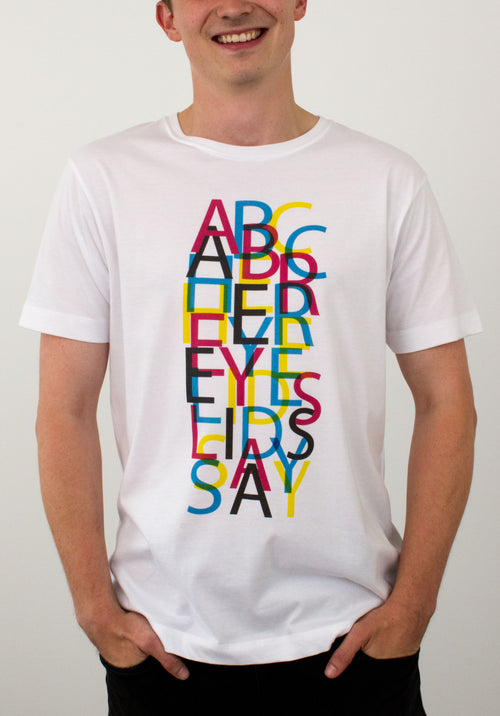 Her Eyelids Say T-shirt by Megan Humphries