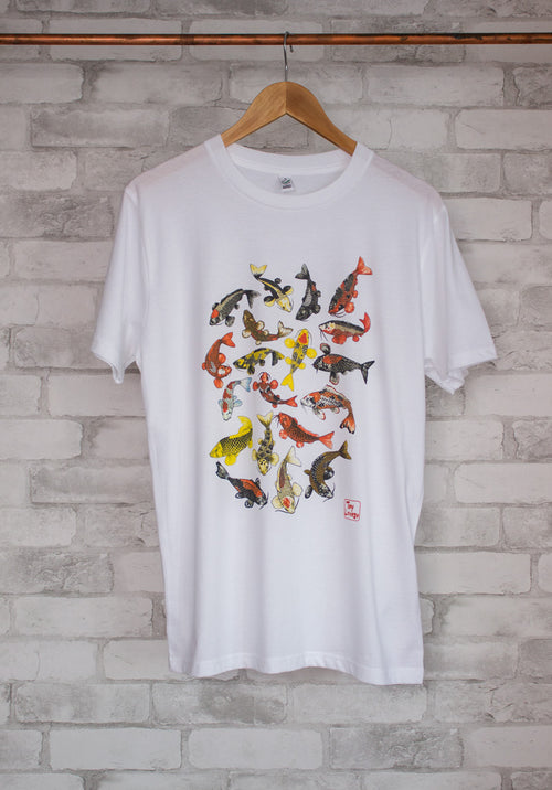 School of Koi T-Shirt by Tony Lorenzo
