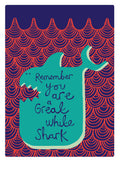 Sharkie Print by Lisa Curtis