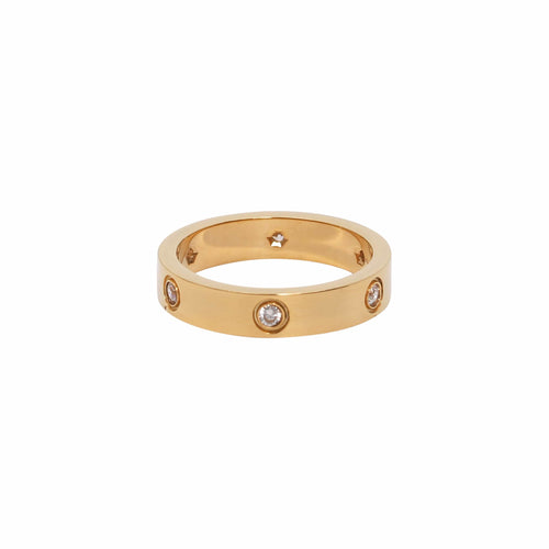 Crystal Ring Gold