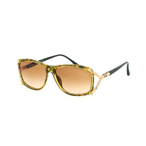 Christian Dior Sunglasses Green/Gold/Gradient Brown Deadstock