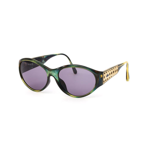 Christian Dior Sunglasses Green/Gold/Purple Deadstock
