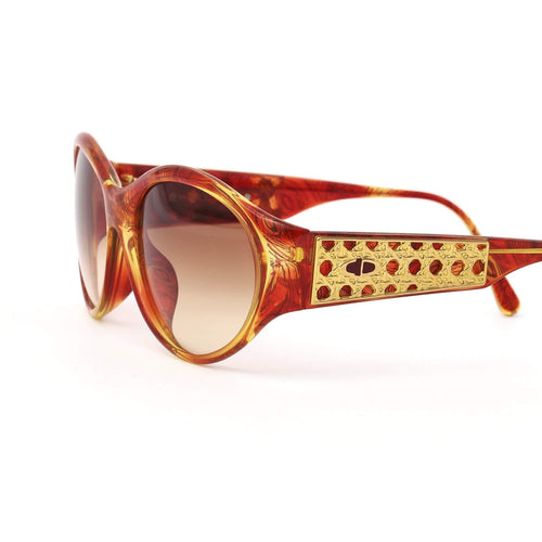Christian Dior Occhiali da sole Red/Gold Deadstock