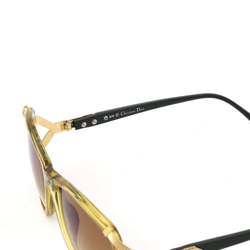 Christian Dior Sunglasses Yellow/Smoked Grey Deadstock