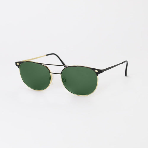 Gucci Sunglasses Black/Gold/Green Deadstock
