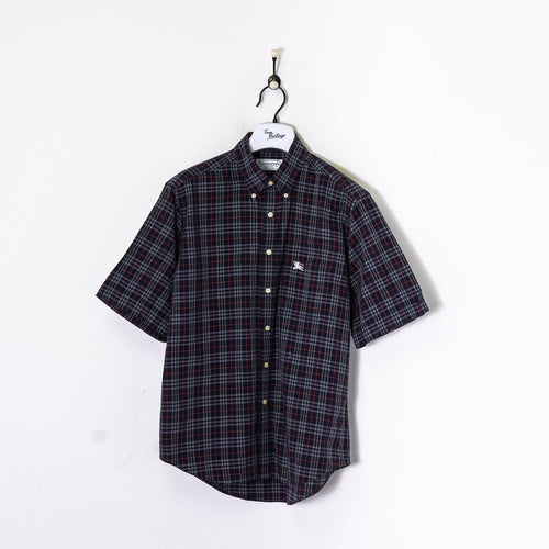 Burberry S/S Shirt Navy/Grey Large