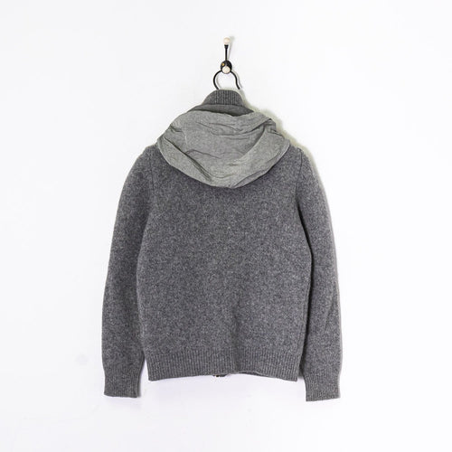 CP Company Knitted Zip Sweatshirt Grey XS