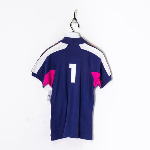 Champion Collared T-Shirt Purple/White/Pink XS