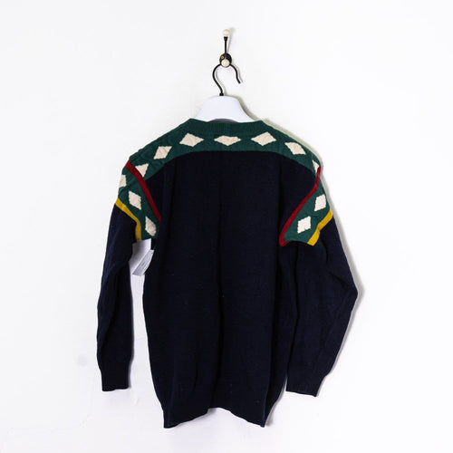 Iceberg Knitted Sweatshirt Navy/Green Medium