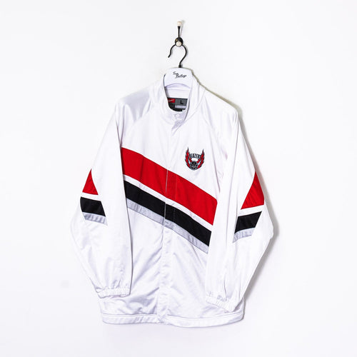 Nike Portland Trail Blazers Track Suit Jacket White XL