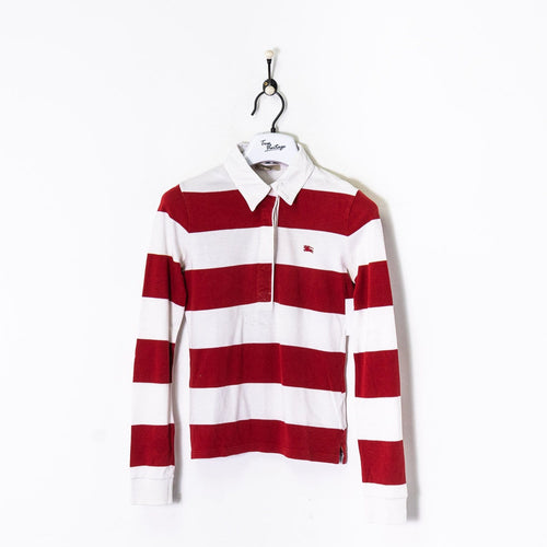 Burberry Rugby Shirt White Women's XS