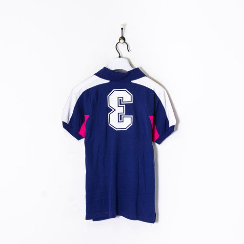 Champion Polo Shirt Blue/Pink/White Small