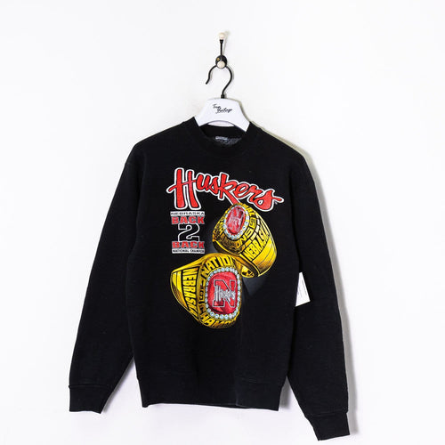 Nebraska Huskers Sweatshirt Black Medium