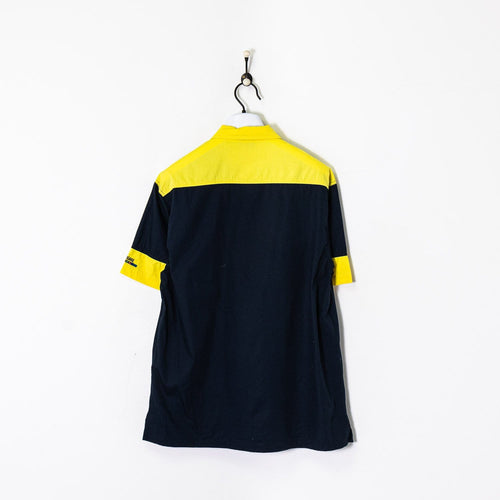 Navigare Shirt Navy/Yellow Large