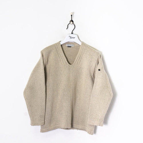 Stone Island Knitted Sweatshirt Cream Small