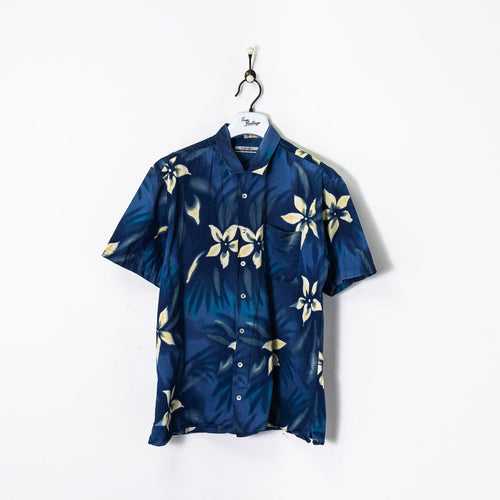 S/S Floral Shirt Navy/White XL