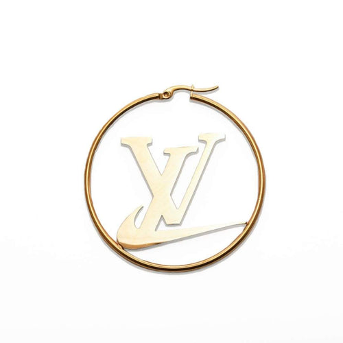 LV Swoosh Earrings Gold