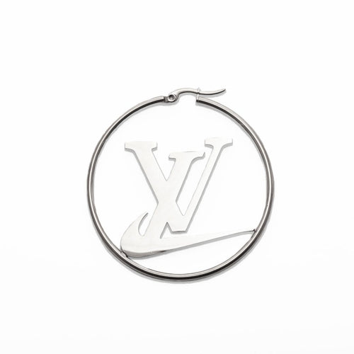 LV Swoosh Earrings Silver