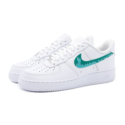 Nike Air Force 1 Custom Green Flames