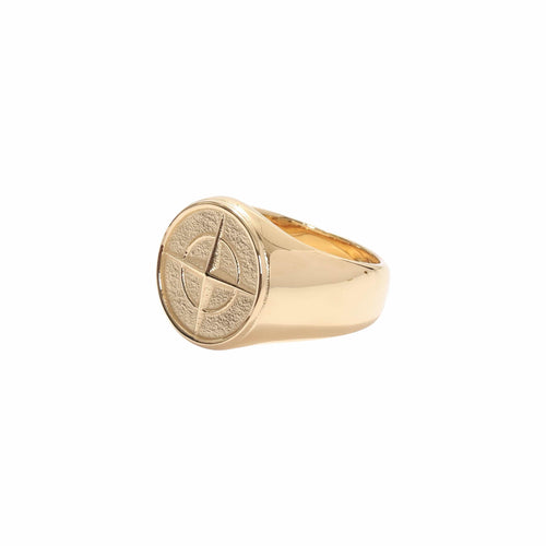 Stoney Compass Ring Gold