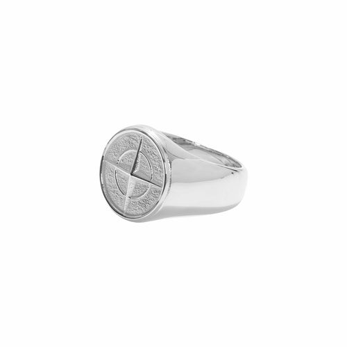 Stoney Compass Ring Silver