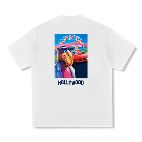 Camel Hollywood T-shirt White