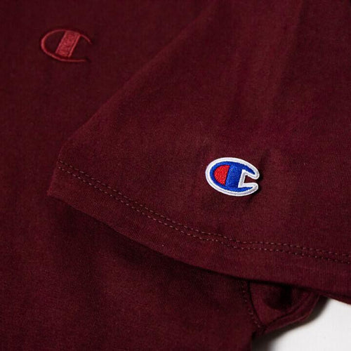 Champion Short Sleeve T-Shirt Burgundy NEW T-shirts Champion