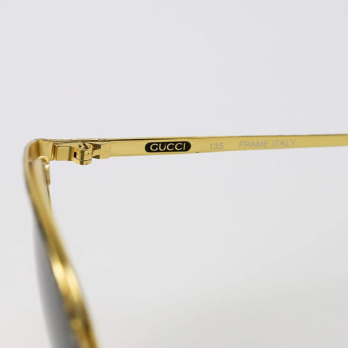 Gucci Sunglasses Black/Gold/Brown Ripple Deadstock Sunglasses Gucci
