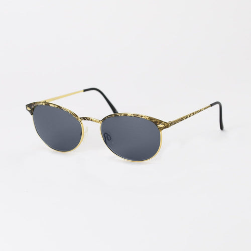 Gucci Sunglasses Black/Gold/Grey Ripple Deadstock Sunglasses Gucci