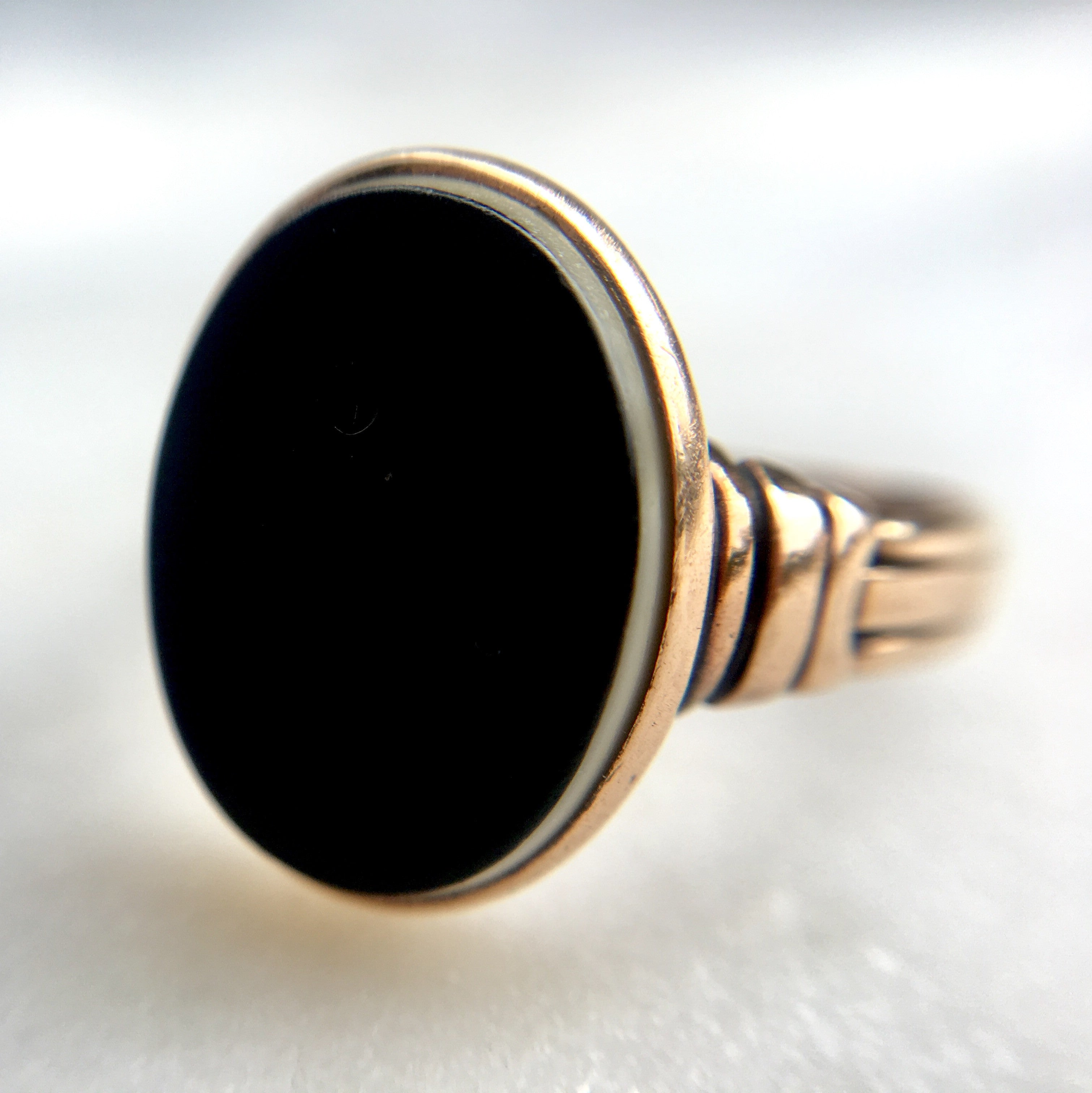 Antique onyx ring