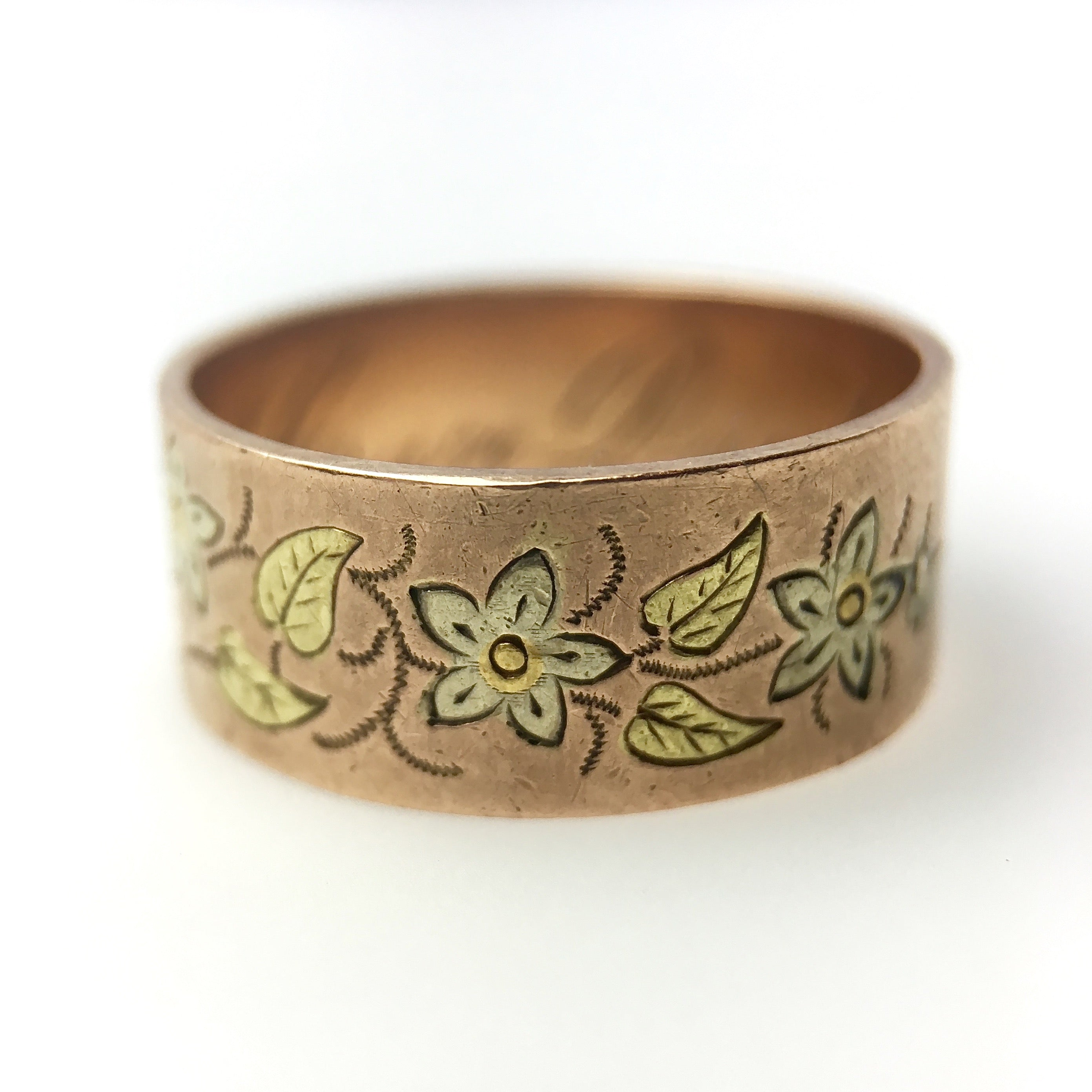 products bands colored knight samantha tri floral motif band img gold color ring jewelry fine