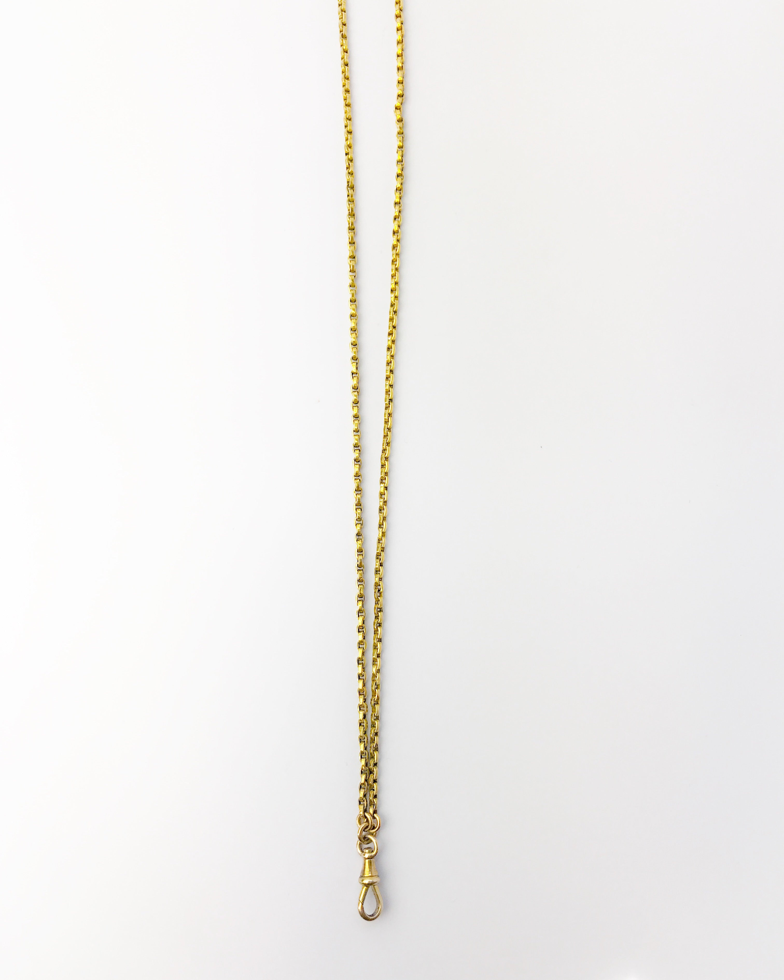 Antique Yellow Gold Chain w/Clasp 32""