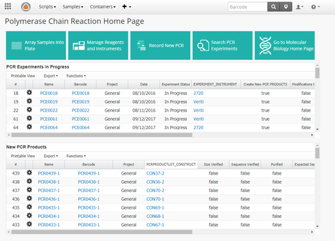Polymerase Chain Reaction (PCR) App Dashboard