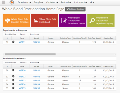 Whole Blood Fractionation Dashboard
