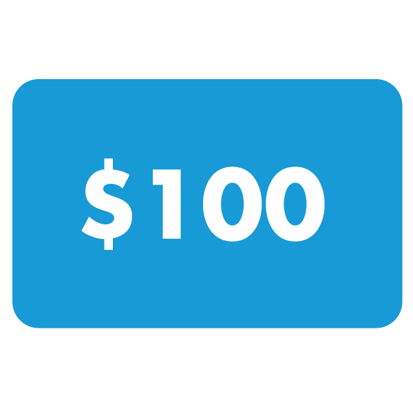 $100 Gift Card US$100.00