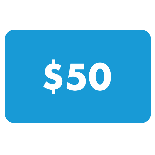 $50 Gift Card US$50.00