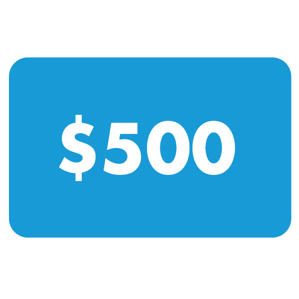 $500 Gift Card US$500.00