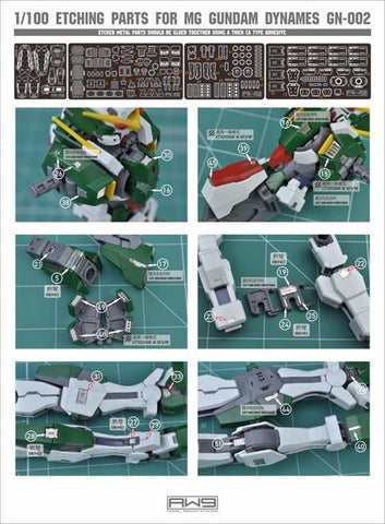 Madworks S09 Etching Parts for MG Gundam Dynames GN-002