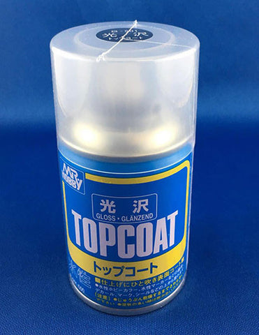 Mr Hobby Top Coat Aerosol Spray Can - 88ml (Gloss)