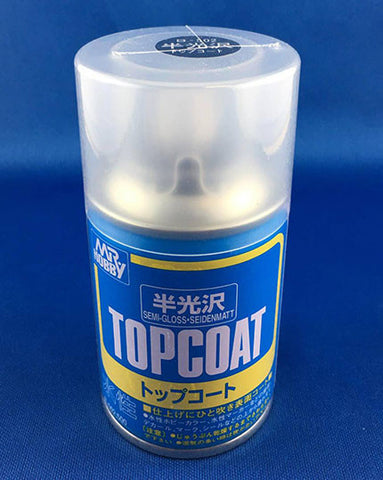 Mr Hobby Top Coat Aerosol Spray Can - 88ml (Semi-Gloss)
