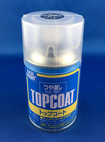 Mr Hobby Top Coat Aerosol Spray Can - 88ml (Flat)